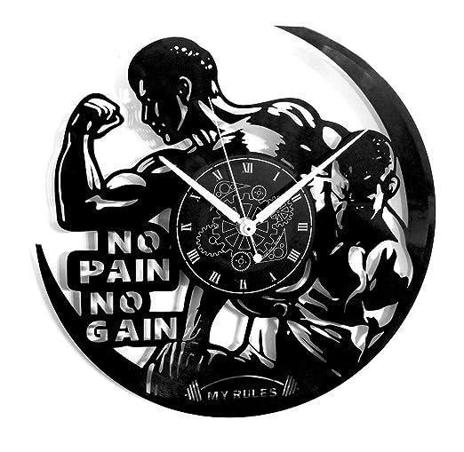Reloj de pared de vinilo Vintage Handmade Workout Gym Sport ...