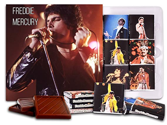 da chocolate candy souvenir freddie mercury chocolate gift set 5x5in 1 box 3622 young amazon com grocery gourmet food da chocolate candy souvenir freddie
