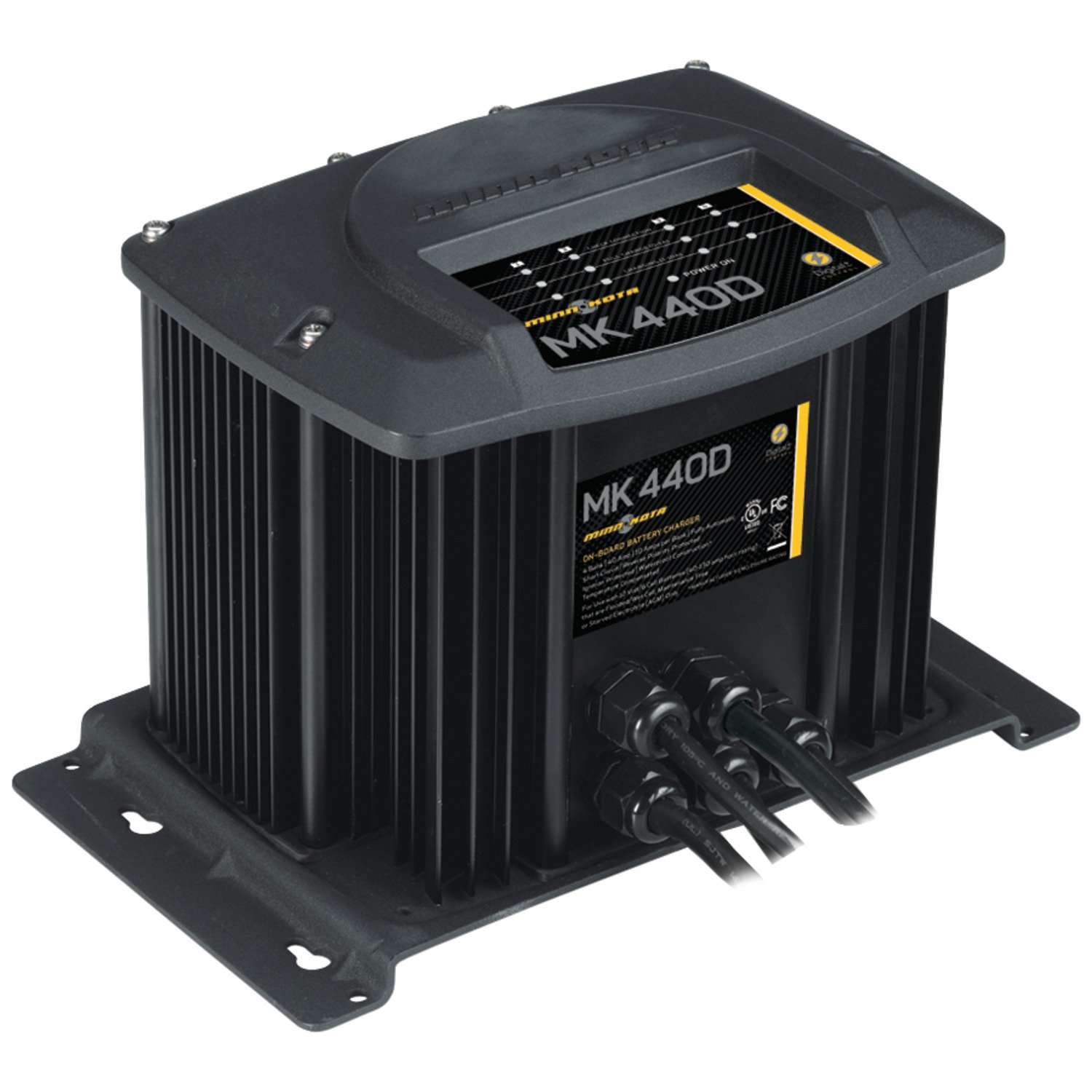 719PPPPmZGL._SL1500_ amazon com minnkota mk 440d on board battery charger (4 banks minn kota 3 bank charger wiring diagram at aneh.co