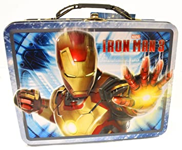 a11cc36d4184 Marvel Iron Man Blue Metal Boys Tin Lunch Box: Amazon.co.uk: Office ...