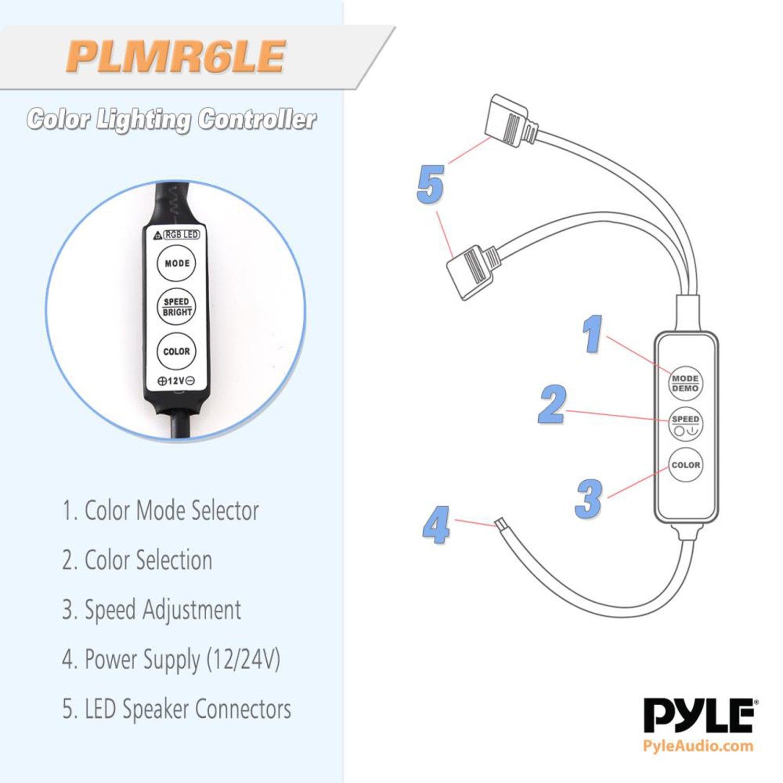 Amazon.com: 4) Pyle Waterproof 150 Watt Marine LED Speakers, White/6.5 Inch  | PLMR6LEW: Cell Phones & Accessories