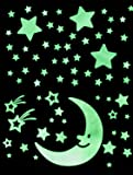 Glow In The Dark Stars Set – Ceiling and Wall Set for Children's Bedrooms – 100 Exciting Galaxy Items For Kids of All Ages Large in Size