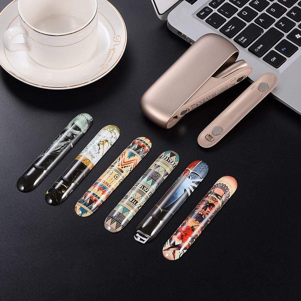 Multi 1 PC Kunststoff Zigarettenetui DrafTor E Zigarette Tasche nur Seitenabdeckung Magnetische Seitenabdeckung f/ür I-Q-O-S 3,0//3 Duo