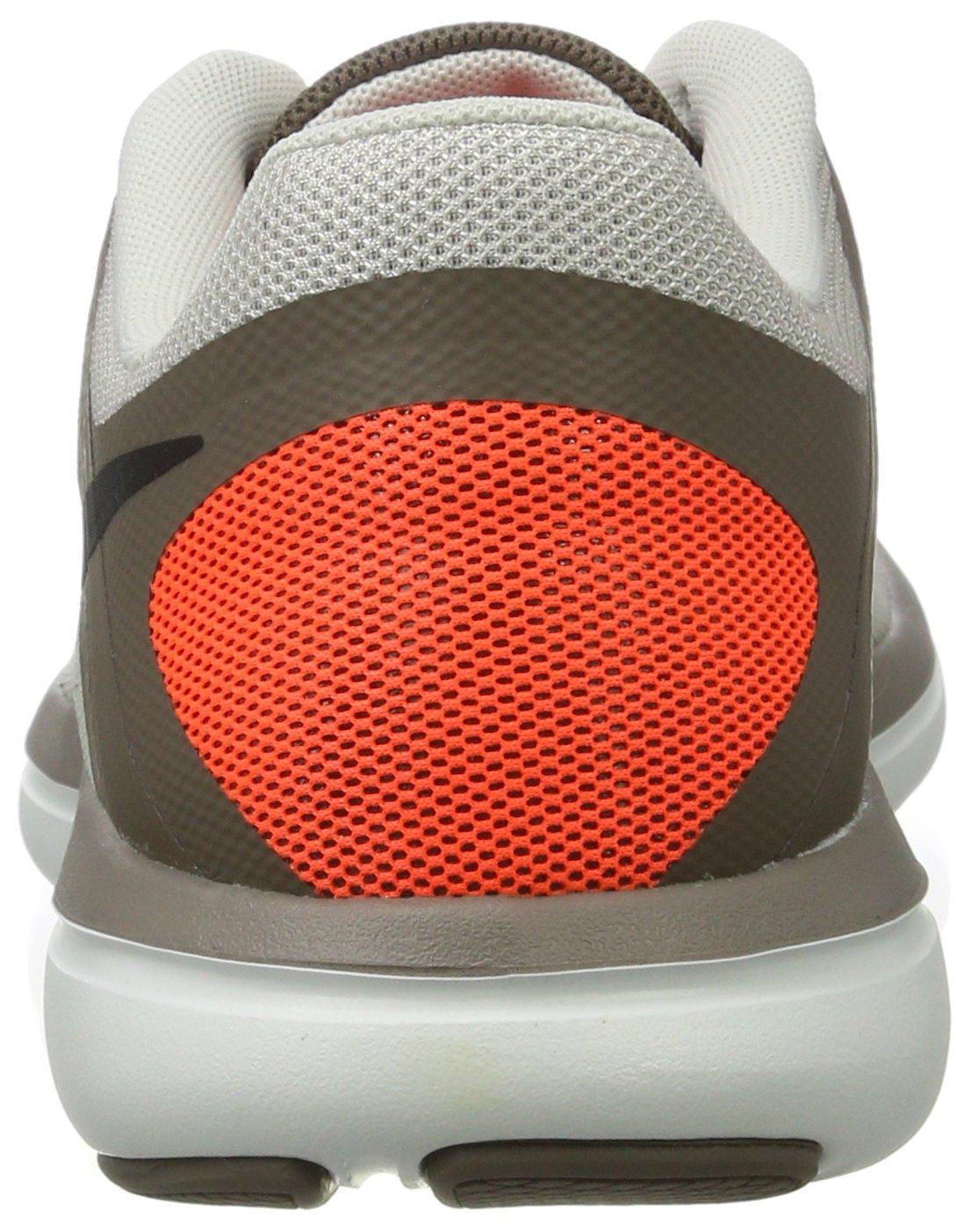 Nike Mens Flex 2016 RN Running Shoe Light Bone/Dark Mushroom/Hyper Orange/Black 8.5 D(M) US by NIKE (Image #2)