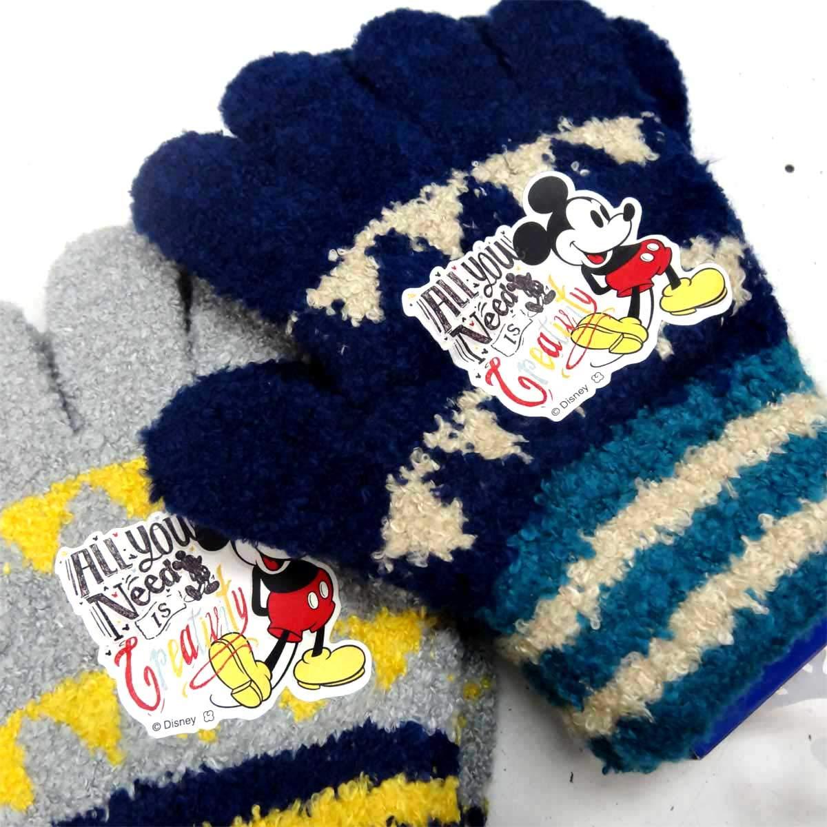 94030e0ac1d252 Amazon | J Bridge Western 日本製 子供用 手袋 キッズグローブ 五指 ミッキー 6191-101 No.2 紺 | 手袋 通販