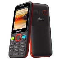 Plum 3G Basic Phone GSM Unlocked Cell Phone Whatsapp Facebook Dedicated Keys ATT Tmobile Metro Cricket Mint Net10 Straight Talk Walmart Mobile, Red (A105RED)