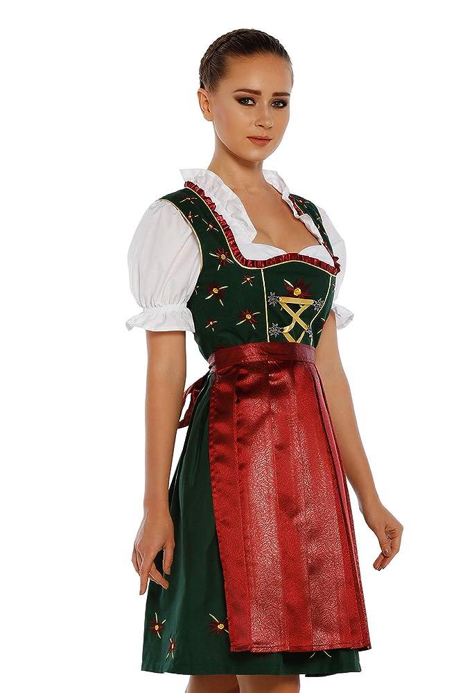 JTAISC Womens Bavarian Oktoberfest Traditional Dirndl Blouse Beer Garden Crop Top