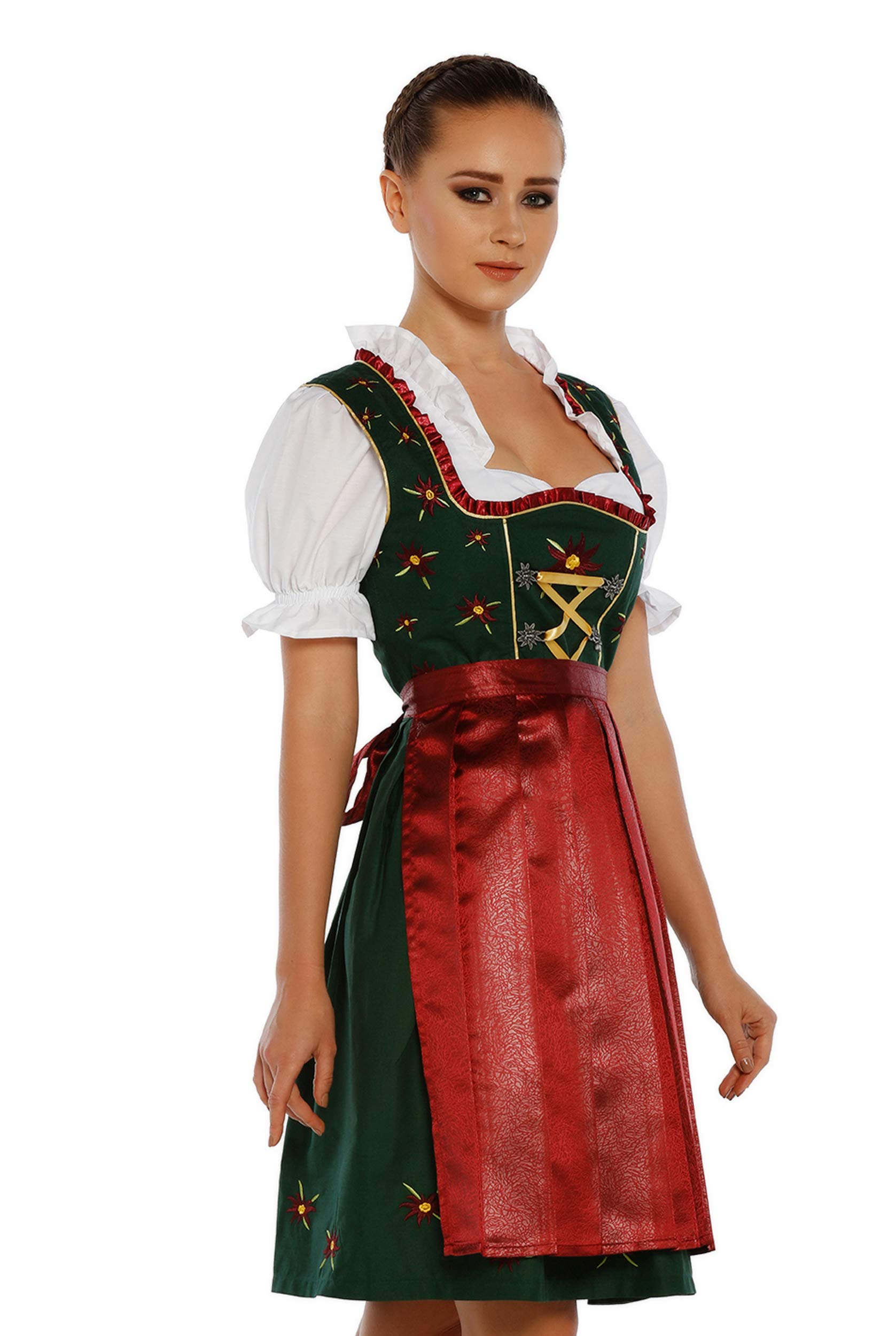 3-pieces Dirndl Dress Authentic Bavarian Floral