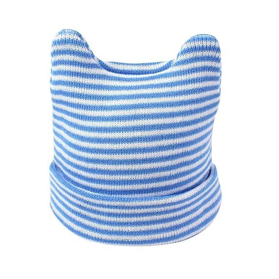 Hffan Baby Mädchen Junge Mode Streifen Warm Häkeln Stricken Hut