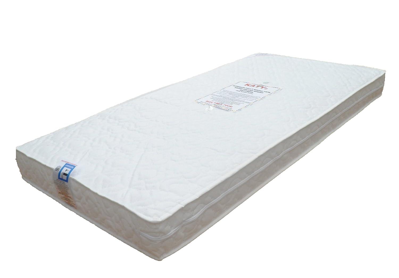 Baby Best Buys BBB-KATY®-140 - Colchón de muelles con espuma ignífuga de alta densidad para cuna, incluye funda y membrana impermeable (140 x 70 x 10 cm): ...