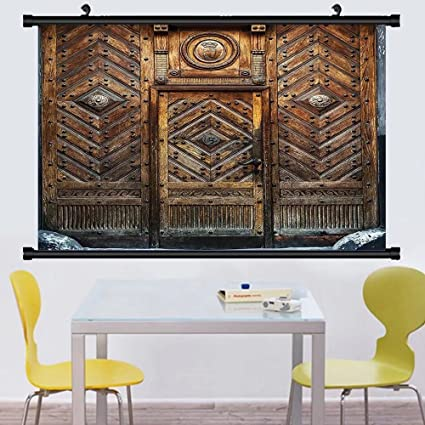 Amazoncom Gzhihine Wall Scroll Rustic Decor Collection Old Door