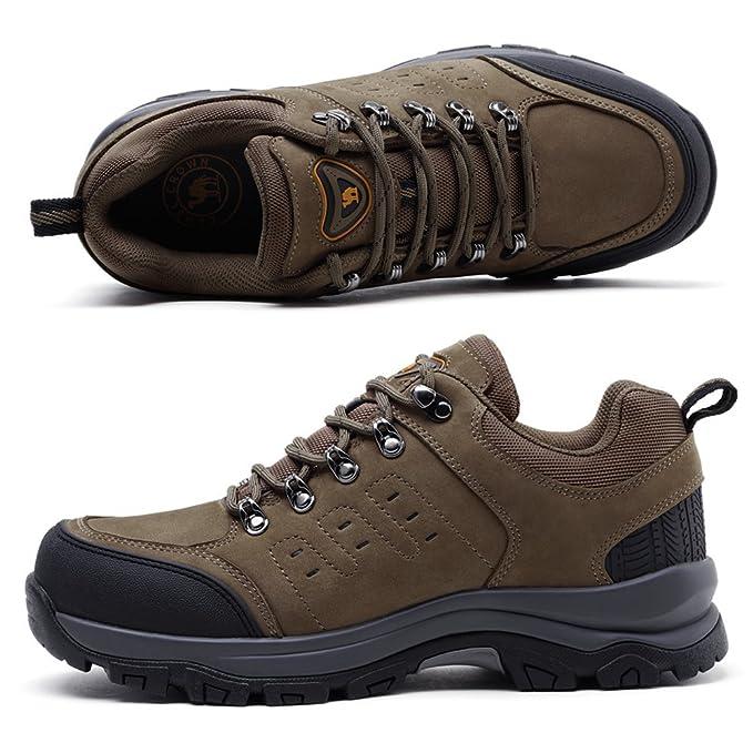 CAMEL CROWN Wanderschuhe Herren Outdoor Schuhe Rutschfest Trekkingschuhe  Leder Wanderstiefel Winter Warm Wasserdichte Schuhe Männer Lace up   Amazon.de  ... b5d6ad331d