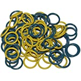 (100 Pack) Soft Stitch Ring Markers (Medium size for needle sizes 9-15, Includes 2 colors, for knitting/crochet/etc)