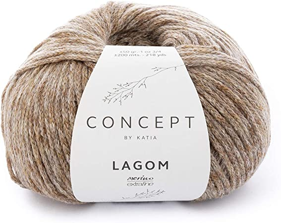 Katia lagom FB. 106 – Camel, 50 g Lana de Merino con algodón para ...