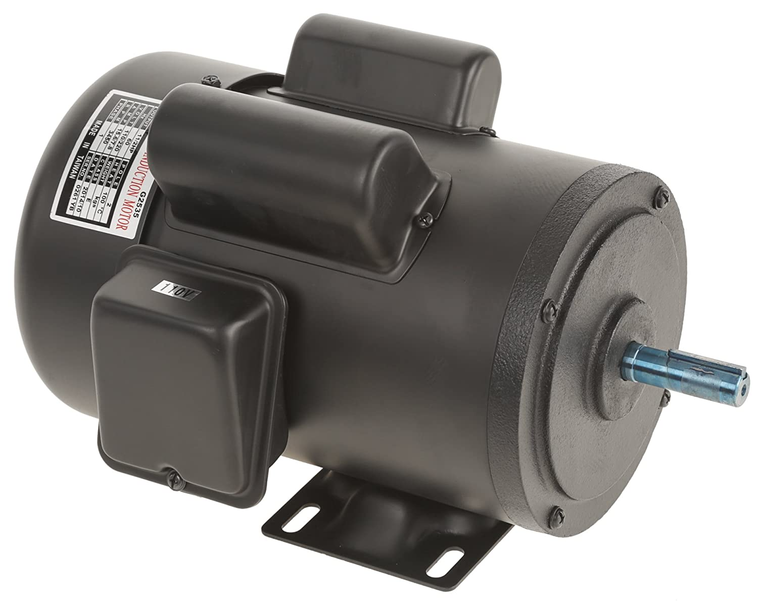 Grizzly G2535 Single-Phase Motor with 3450 RPM