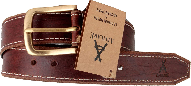 Affilare Genuine Leather Belt for Men Vintage Style Casual Jeans Belt