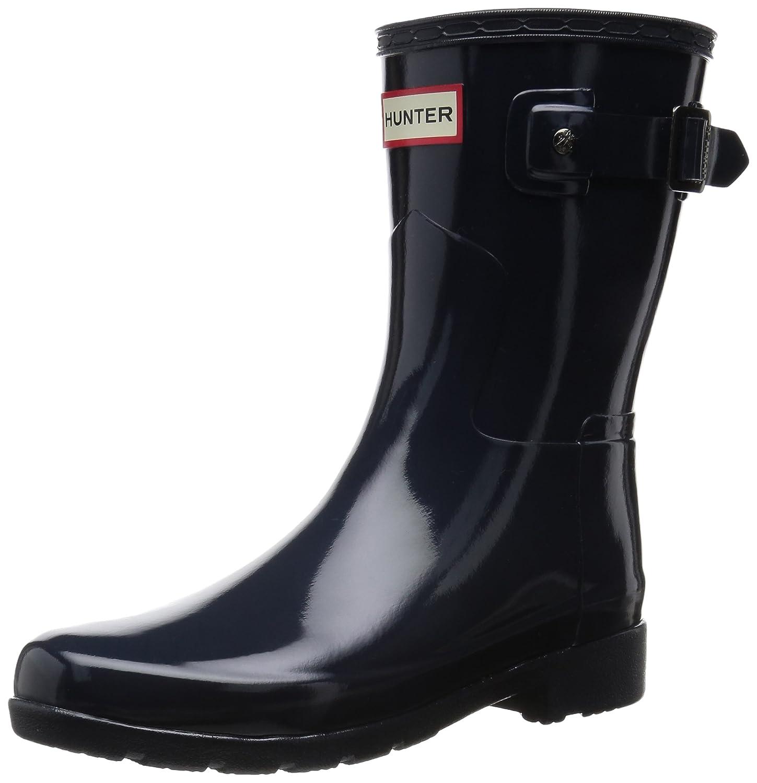 Hunter Original Refined Short Gloss Navy Women's Rain Boots