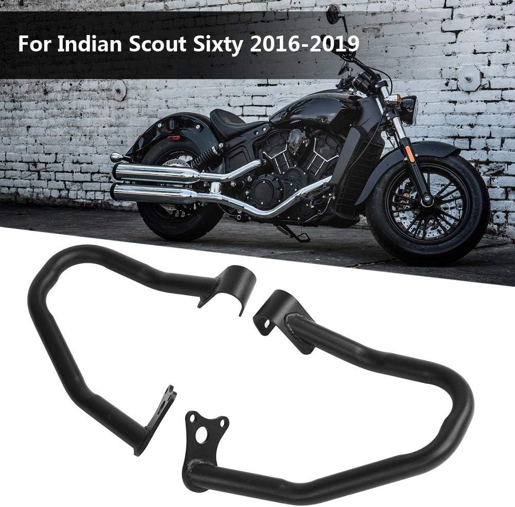 Noir 2pcs moto avant garde protecteur de r/éservoir de pare-chocs pour Indian Scout Sixty 2016-2019
