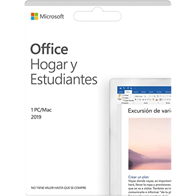 Microsoft Office Hogar y Estudiantes 2019 | Todas las aplicaciones de Office 2019 para 1 PC
