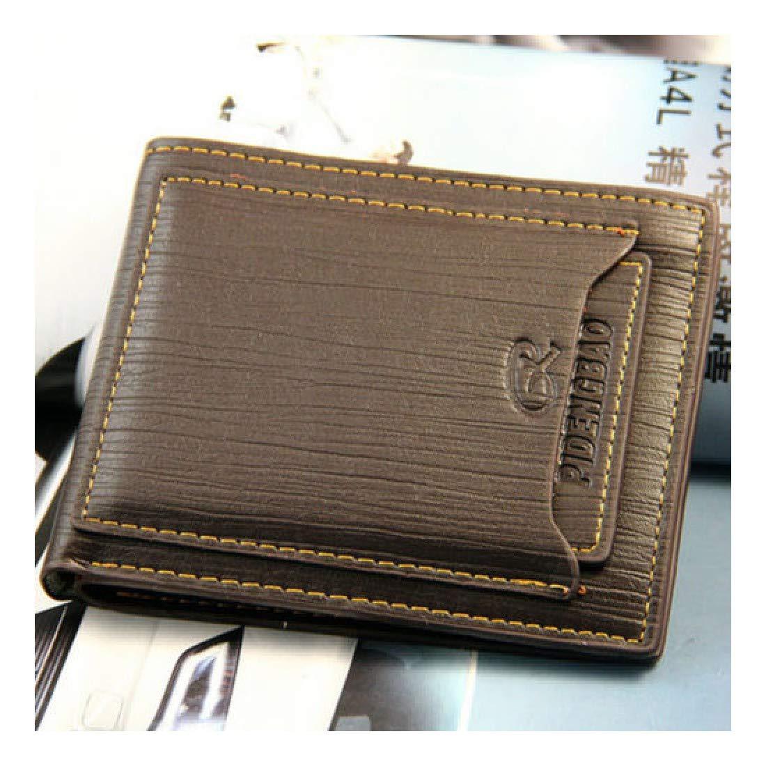 Mens Bifold Leather ID Credit Card Holder Pocket Money Purse Clutch Wallet
