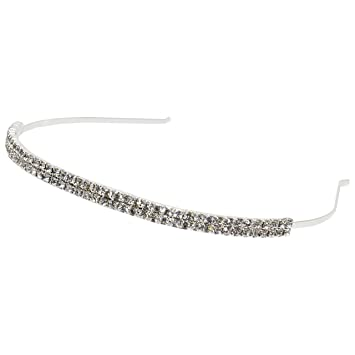 girls pageant jewelry 2 row crystal clear rhinestone headband from our pageant jewelry