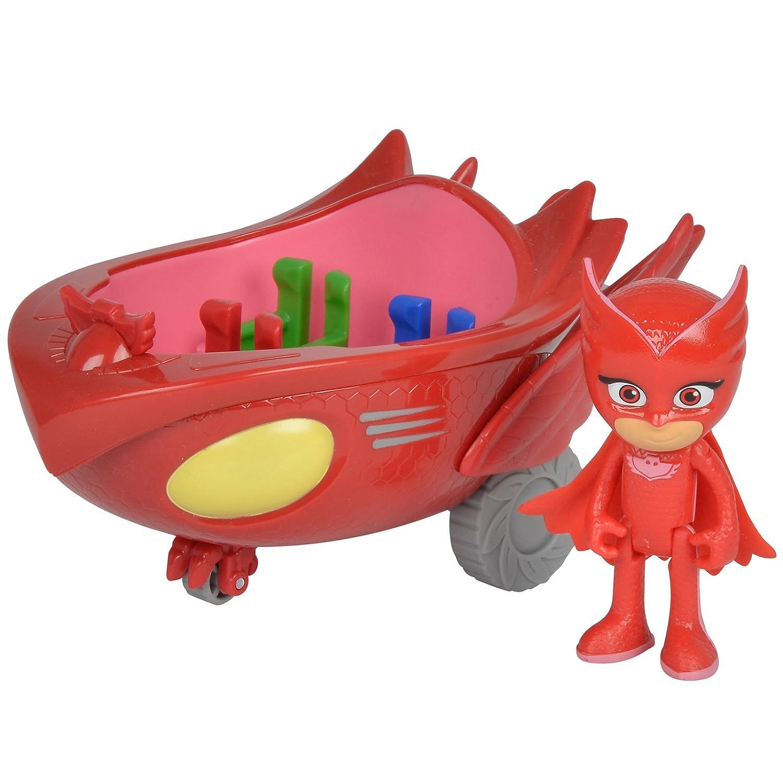 #0618 Action Figur PJ Masks bewegliche Eulette Spielfigur 8cm inklusive Eulengleiter • Mask Kinder Spielzeug Auto Eule H-Collection