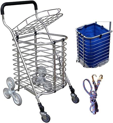 QINAIDI Carro Plegable para Subir Escaleras de 8 Ruedas Carro Ligero para Subir Escaleras con Bolsa Extraíble A Prueba De Agua para Lavandería, Supermercado Y Mercado: Amazon.es: Deportes y aire libre