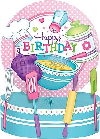 Pack de 6 centros de mesa multicolor para fiesta de cumpleaños, 30,5 cm: Amazon.es: Hogar