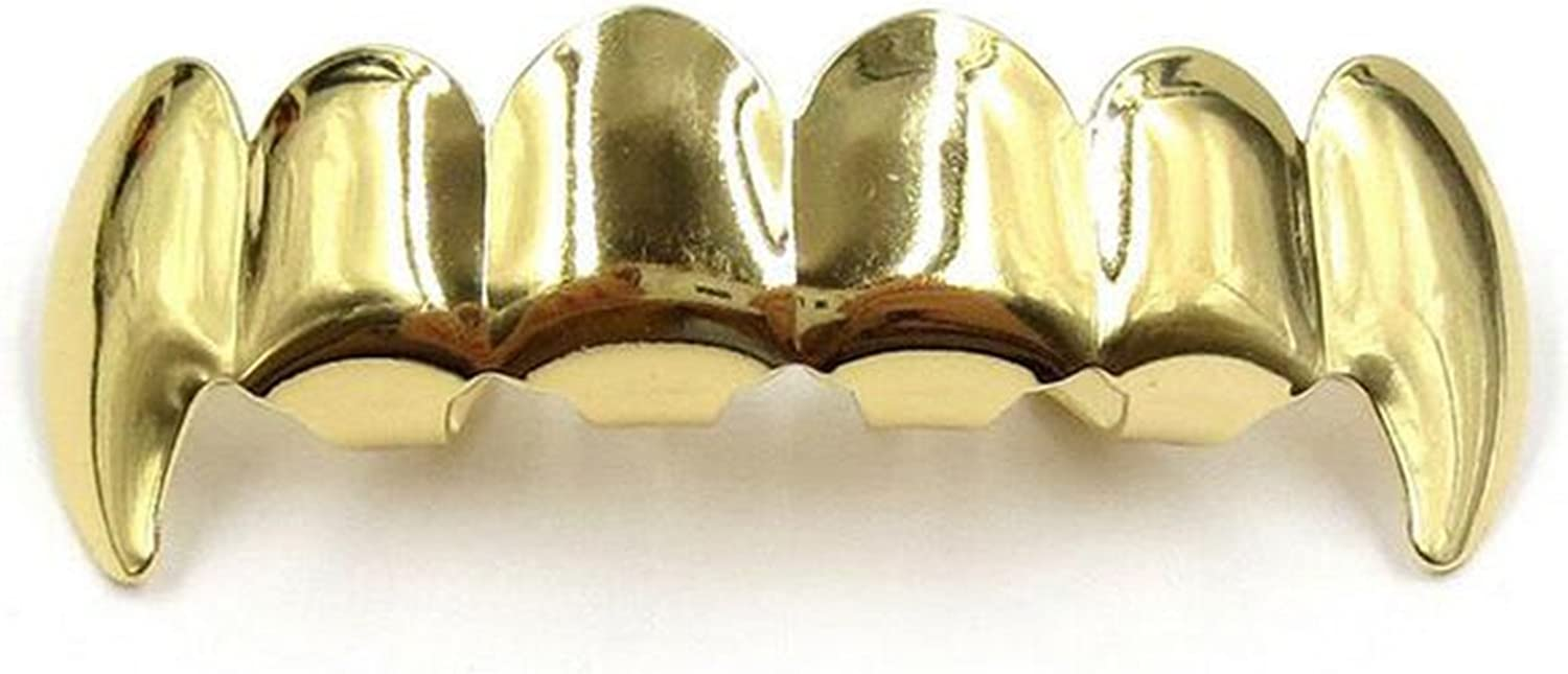 wiipujewelry Wiipu Top Bottom Grill Set 14Kt Gold Plated Custom Grillz w//Molds Teeth Hip Hop Mouth A1088