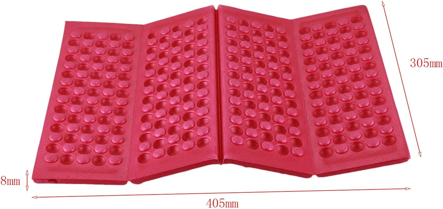 red Gaoominy 1x Seat Cushion Foldable lightweight Thermo Insulated Seat Mat Waterproof Insulating Foldable Hiking Forest Outdoor Stadium Cushion Chair Cushion Chair cover for outdoor camping beach