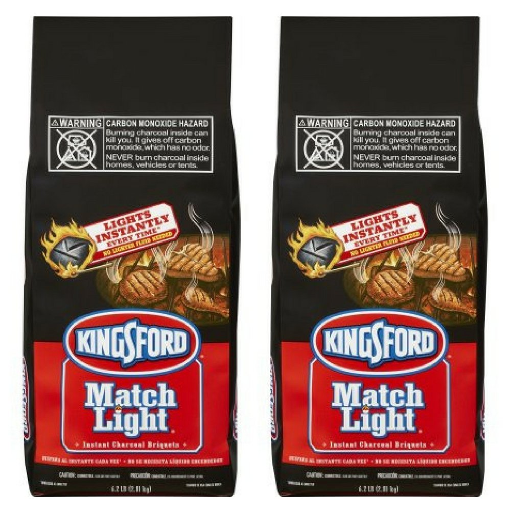 Kingsford Match Light Charcoal Briquettes, 6.2 lbs, (2 pack)