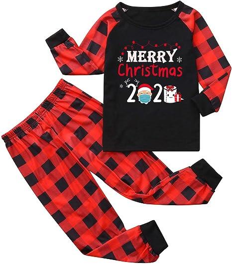 iSpchen Conjunto de Pijamas de Navidad Pijamas de Navidad con ...