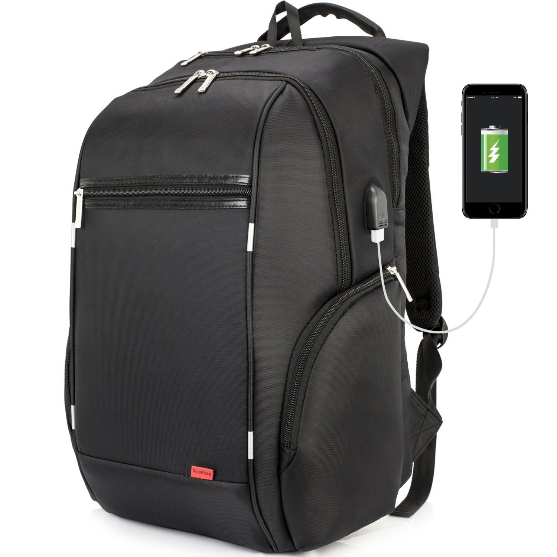 niceebag resistente al agua Laptop Mochila con USB port Ocio Mochila Escolar Business Backpack Mochila viajes Daypack hasta 17 - 17,3 zolllaptops/Computer ...