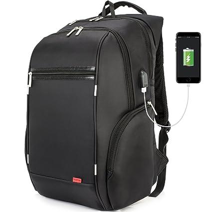 niceebag resistente al agua Laptop Mochila con USB port Ocio Mochila Escolar Business Backpack Mochila viajes