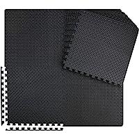 innhom Gym Flooring Mat Interlocking Foam Mats Puzzle Exercise Mat with EVA Foam Floor Tiles for Gym Equipment Workouts…