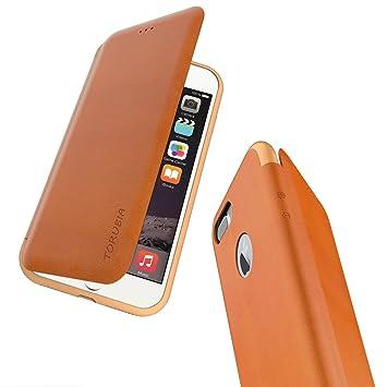 c4ca6371140 Funda Cuero para iPhone 7, Billetera para Tarjetas, Carcasa en Libro  Plegable Estilo Minimalista Slim Fit Cuerpo Completo Protector Case Cover para  iPhone 7 ...