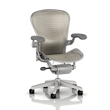 aeron chair by herman miller basic titanium frame white gold