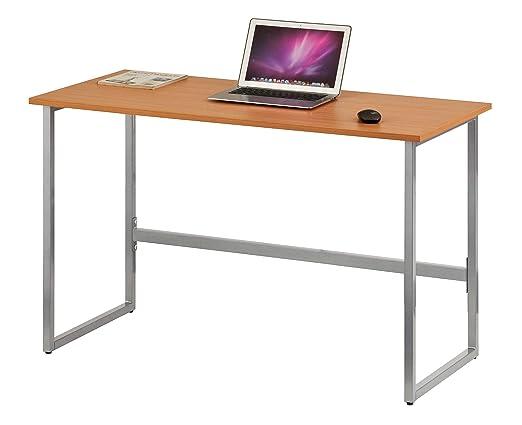 hjh OFFICE 674250 Escritorio WORKSPACE Light Haya/Plateado Mesa de ...