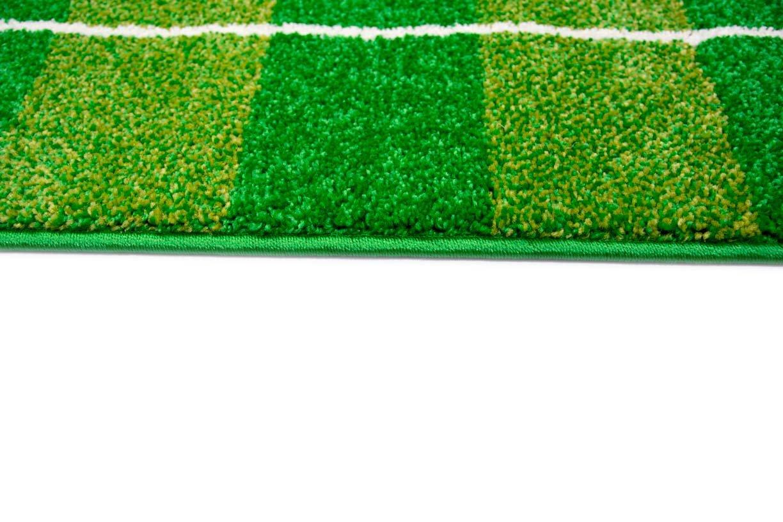 Gr/ö/ße 80x150 cm Traum Kinderteppich Spielteppich Kinderzimmerteppich Fu/ßballteppich in Gr/ün