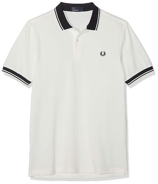 Fred Perry Contrast Rib Pique Shirt Polo para Hombre: Amazon.es ...