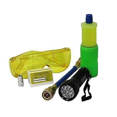 MASTERCOOL (53587 Black 17-LED UV Flashlight Kit with 10-Application Universal A/C Dye Kit: Automotive