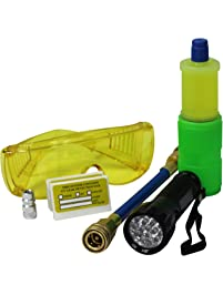Mastercool (53587) Black 17-LED UV Flashlight Kit with 10-Application Universal A/C Dye Kit