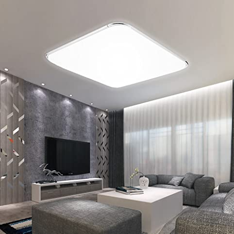 HG® 64W LED Deckenleuchte Weiß Schlafzimmerleuchte IP44 Badezimmer ...