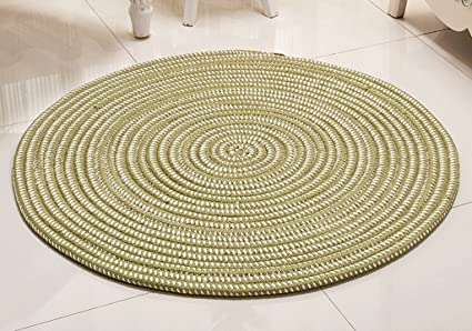 DTT CYJZ® Teppich, runder Teppich Schleppseil abgerundet ...