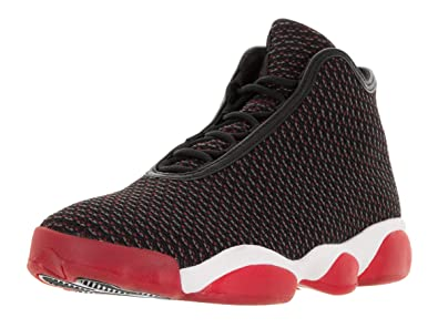 Nike Jordan Mens Jordan Horizon Black/Gym Red/Dark Grey/White Basketball  Shoe