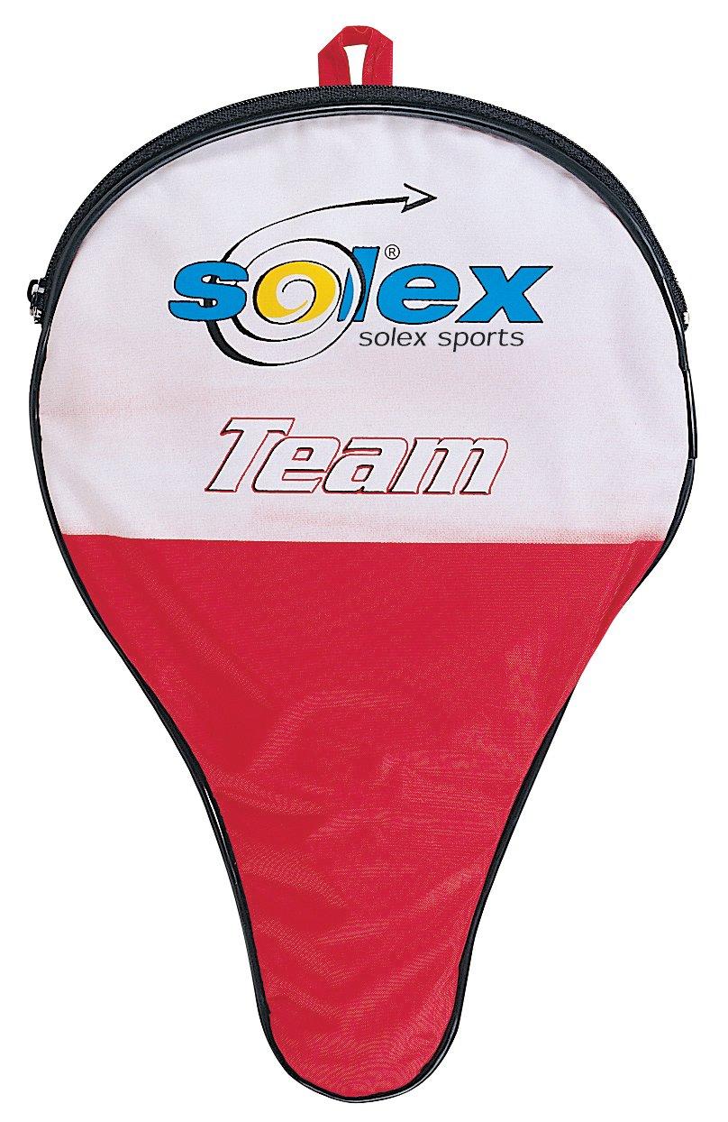 Solex Sports 44253 - Custodia per racchette e palla, colore rosso/nero, 29 x 19 x 2 cm