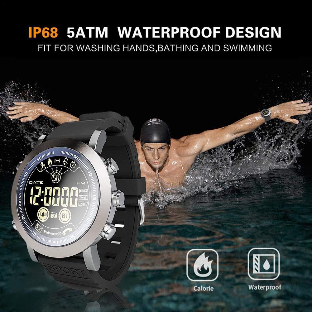 Sport Smart Watch LF23 Hombres Sport IP68 Profesional Impermeable 610Mah Batería 33 Meses de Tiempo de Espera Vintage Smartwatch con Monitor de sueño para ...