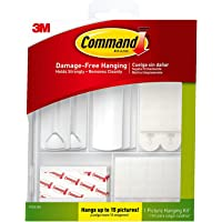 Command Picture Hanging Kit, Indoor Use (17213-ES), White, Hangs up to 15 Pictures 1 Pack