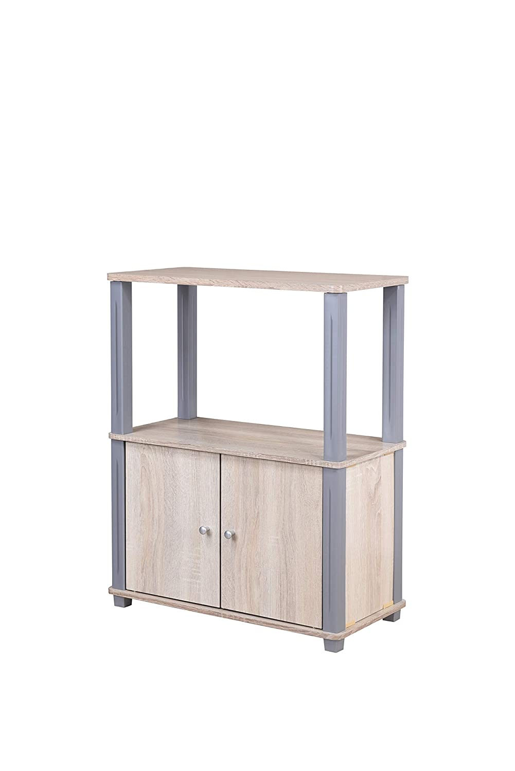 Medium Walnut and Grey 4D Concepts College Collection Stand