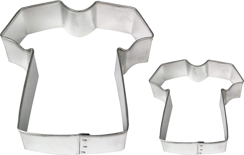 PME Cortadores para Pasteles y Galletas en Forma de Camiseta, Tamaños Grande y Pequeño, Juego de 2: Amazon.es: Hogar